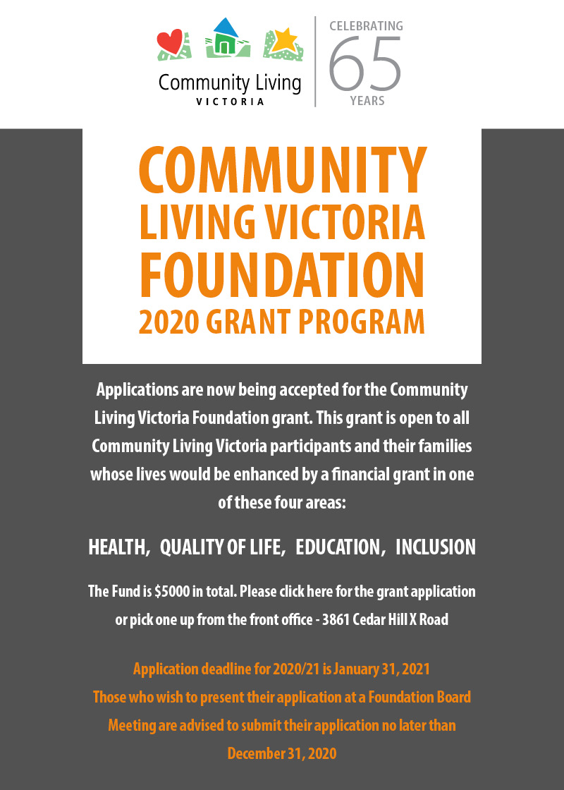 Community Grant Application Poster